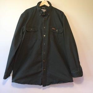 Men's Carhartt 100% Cotton Button Down XL Tall